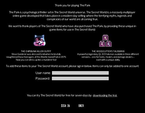 Précommandez THE PARK dès aujourd'hui et bénéficiez d'une remise de 23% ! Tswthepark